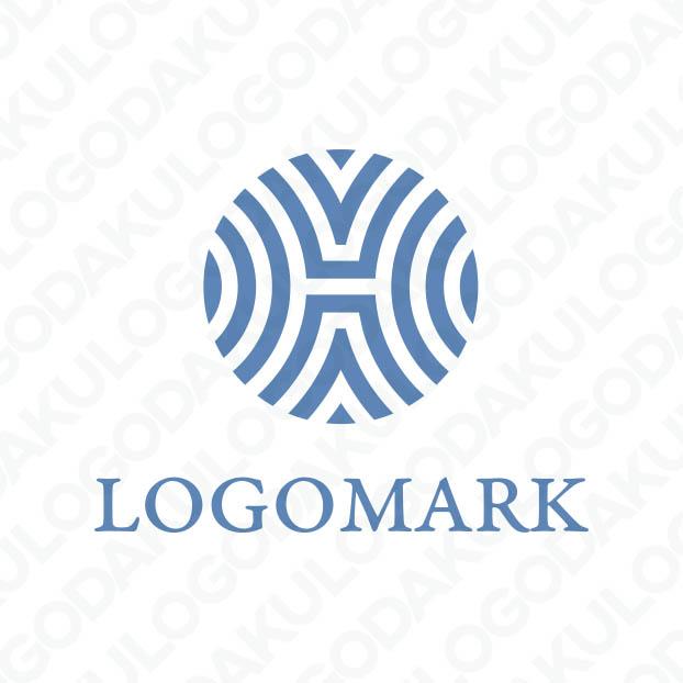 幾何学的に広がるHのロゴ